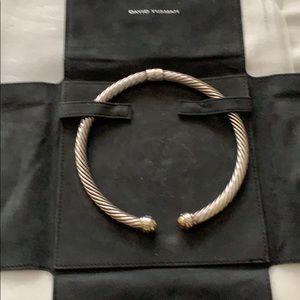 David Yurman 10mm Sterling & 14k Collar Necklace